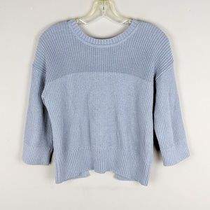 CAbi | Soft Blue Back Zip Sweater - H11